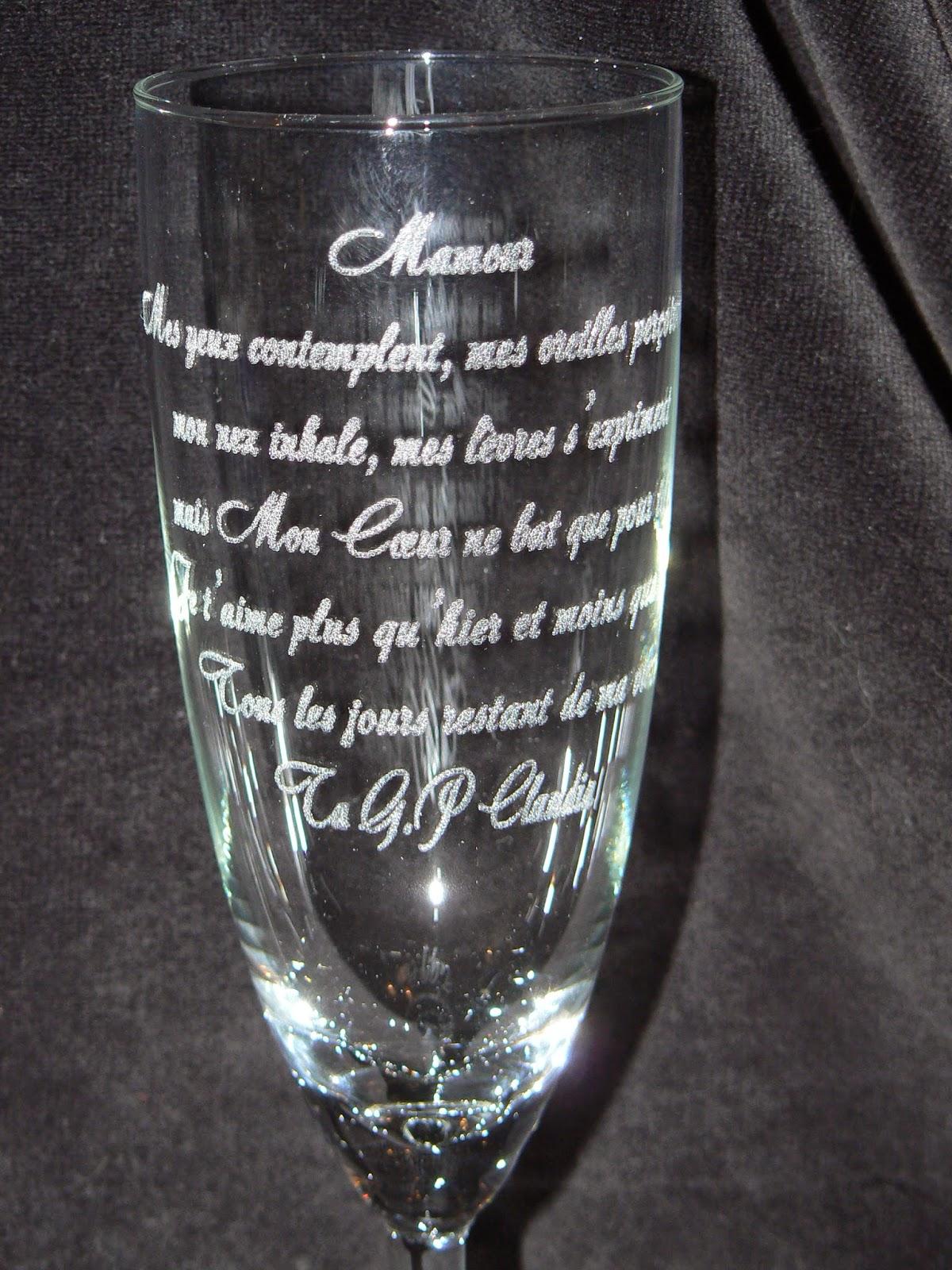 Gravures Sur Verre pour gravure sur verre,1.48€ verre gravé,flute gravée,mariage,bapteme
