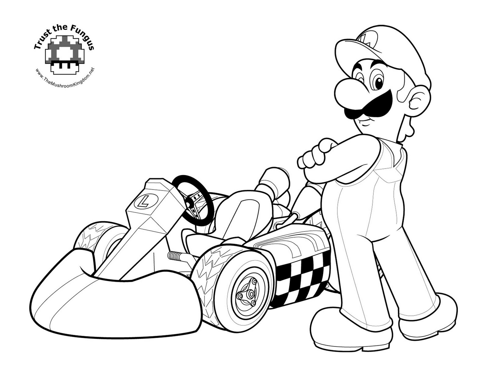 mega mario coloring pages - photo#23