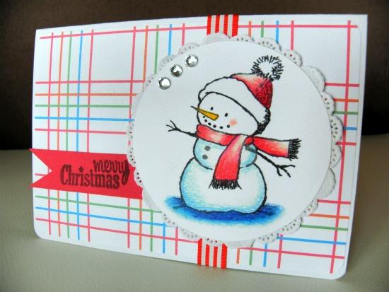 Snowman Christmas Card, snowman, christmas