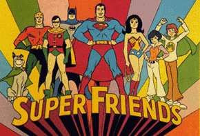 Where do Superfriendz get the band name from - Superfriends cartoon
