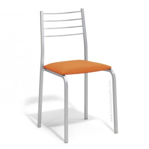silla cocina naranja taronja