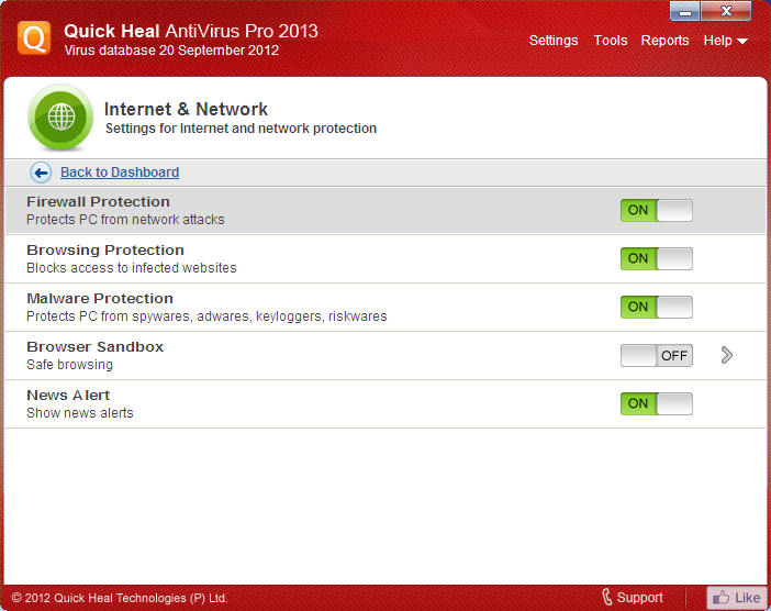 Quick heal antivirus pro 2013 with 1 year product key free