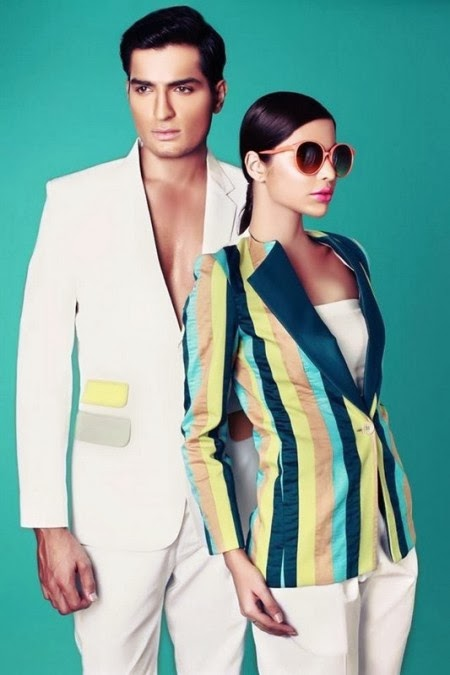Deepak And Fahad New Stylish Winter Dresses Collection 2014 For Men & Women