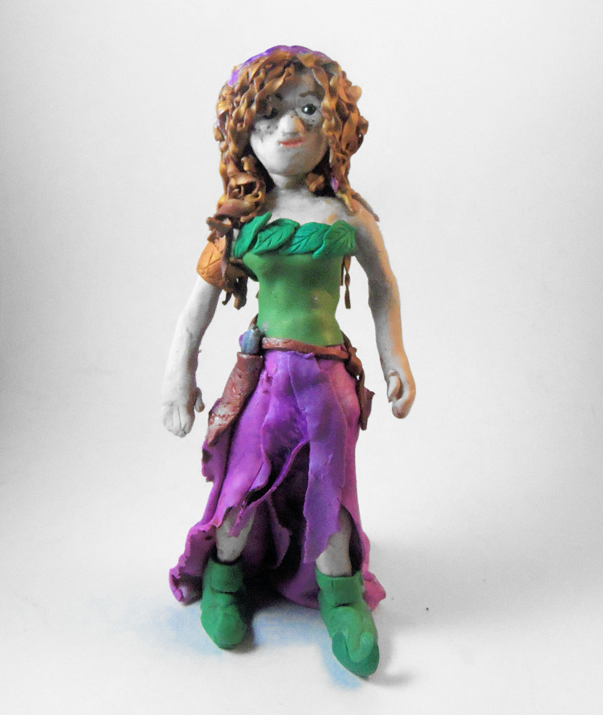 polymer clay elf doll