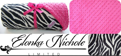 Hot Pink and Zebra blanket minky chenille review