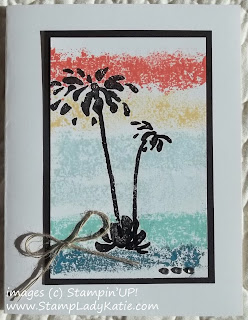 Card made with the Masking Tape Technique and the Too Kind Stamp Set