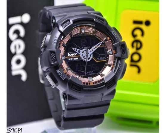 I GEAR I02 Original hitam rosegold