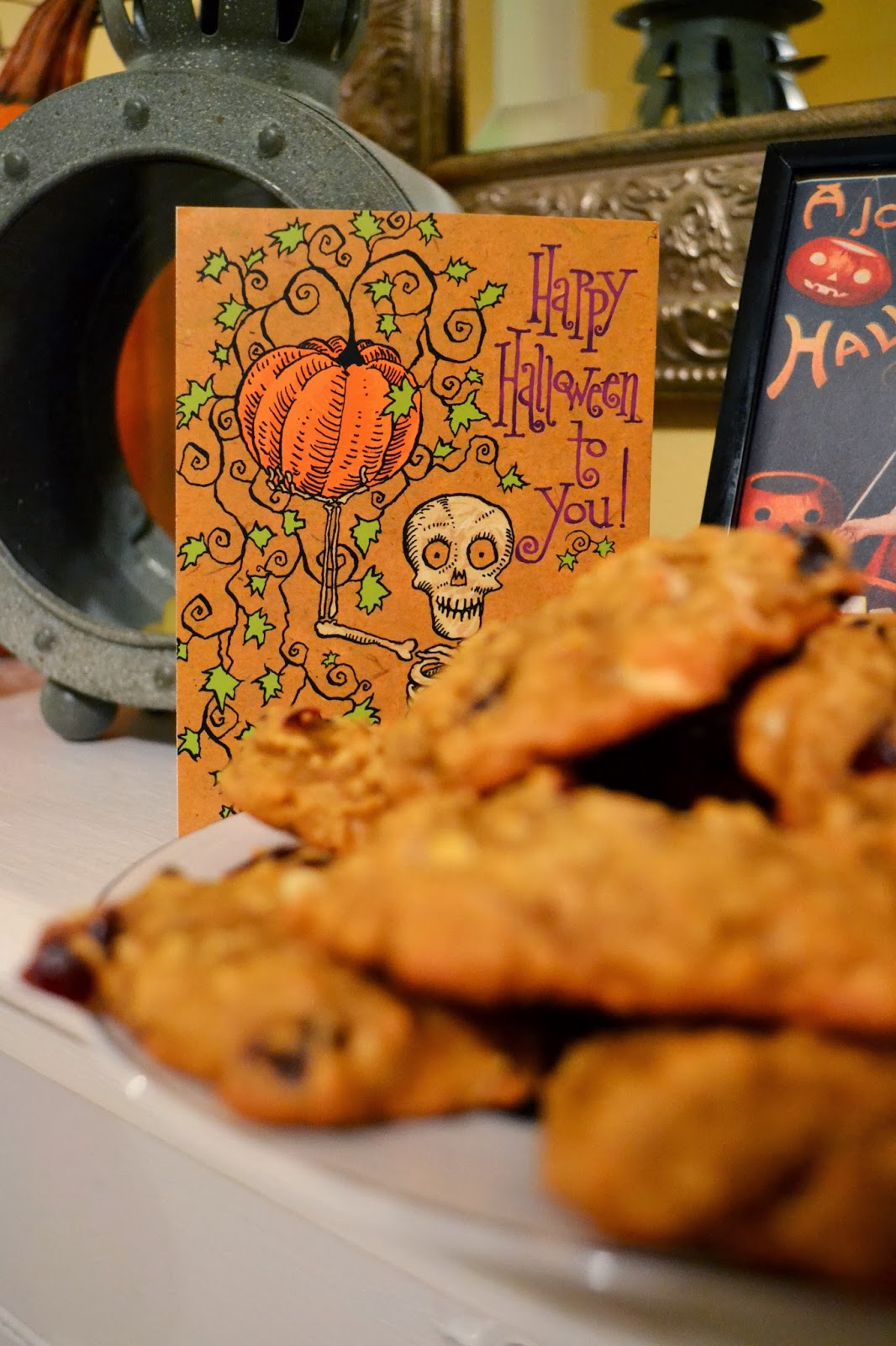 ... Pumpkin Oatmeal Cookies with White Chocolate Chips and Dried
