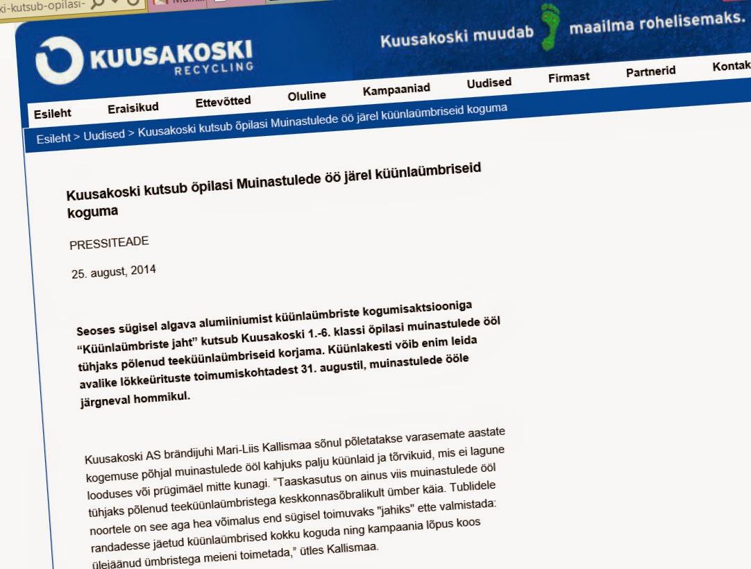 http://www.kuusakoski.ee/Uudised/Kuusakoski-kutsub-opilasi-Muinastulede-oo-jarel-kuunlaumbriseid-koguma/