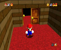 Mario com barba no emulador de N64 do Dreamcast (bug) XD