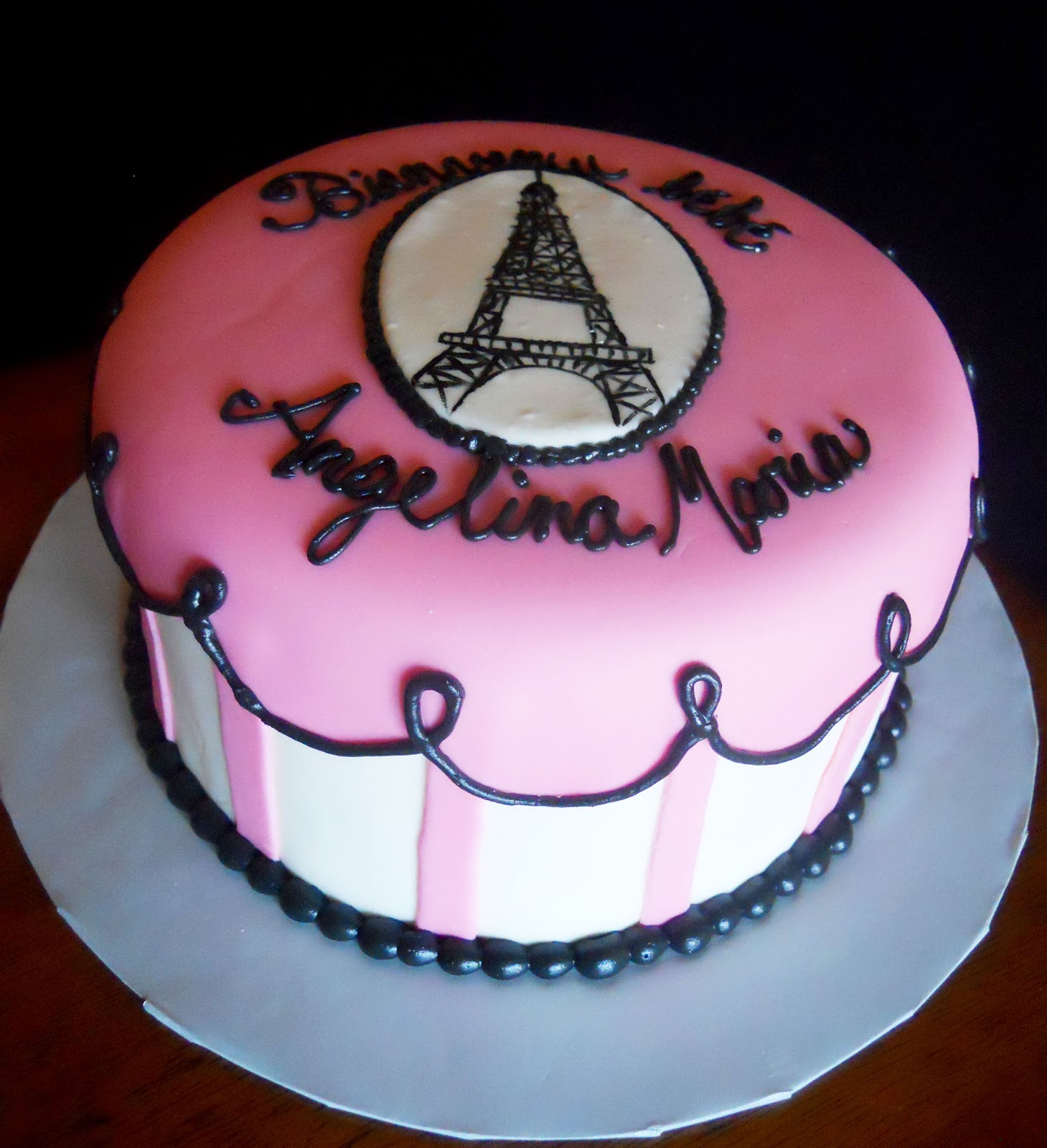 Paris Baby Shower Cake: Lin's Kitchen: Paris Themed Baby Shower Cake