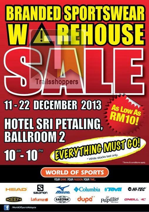 Branded Sportswear Warehouse Sale 2013