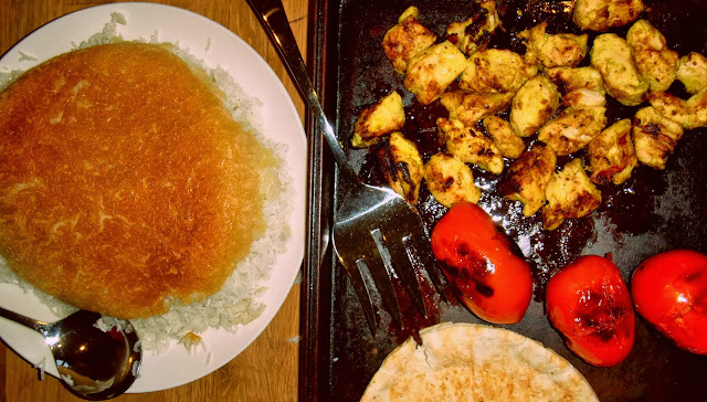 Persian chicken kabobs