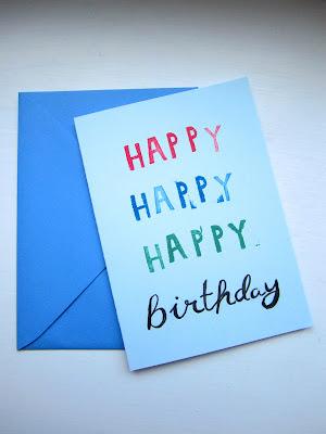 Happy Happy Birthday Karte selbermachen