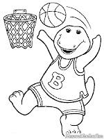 Barney Bermain Bola Basket
