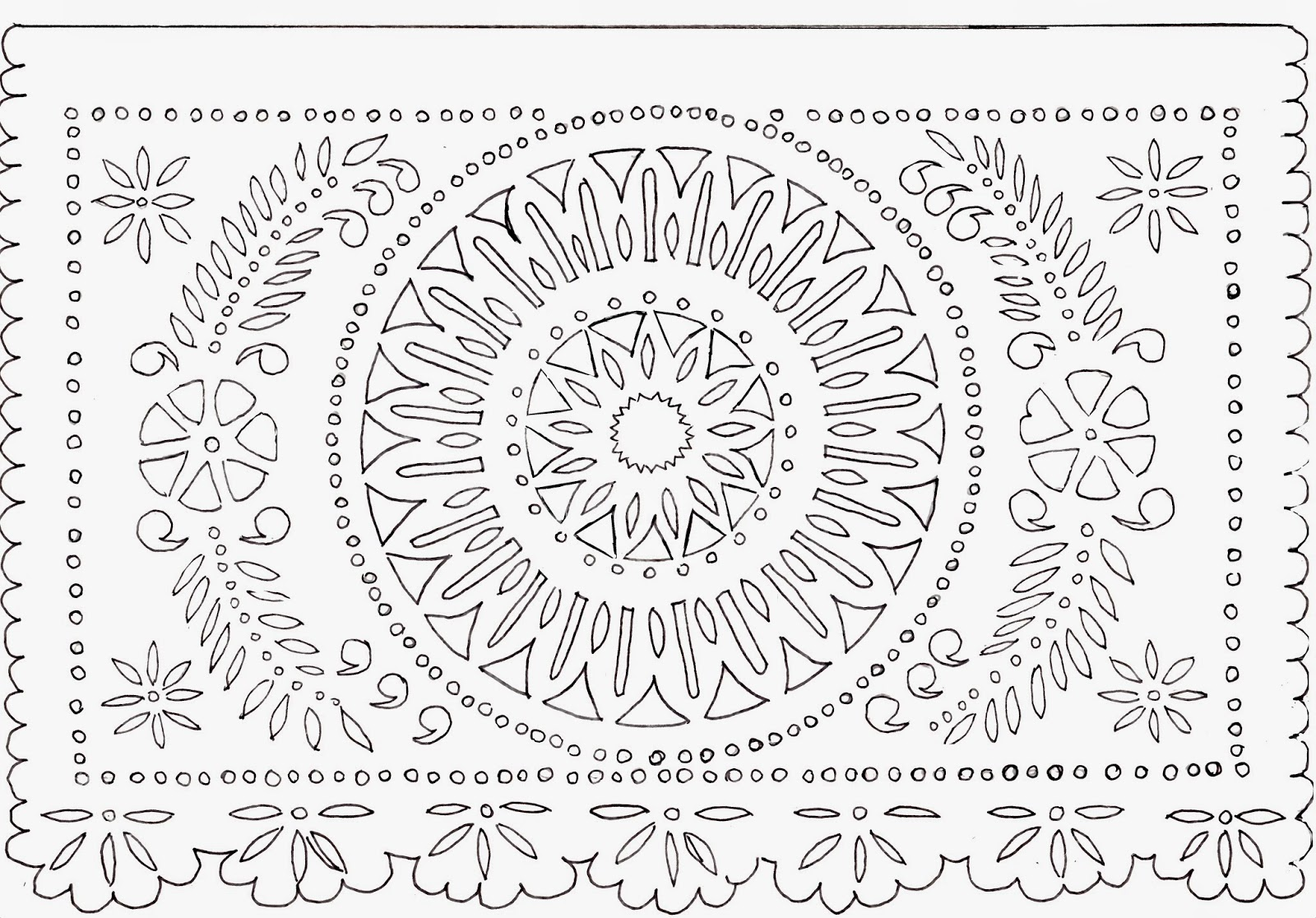 Delicate image with papel picado printable