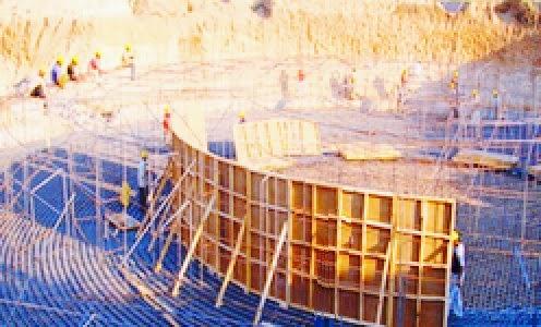 Raft foundation for Chimney