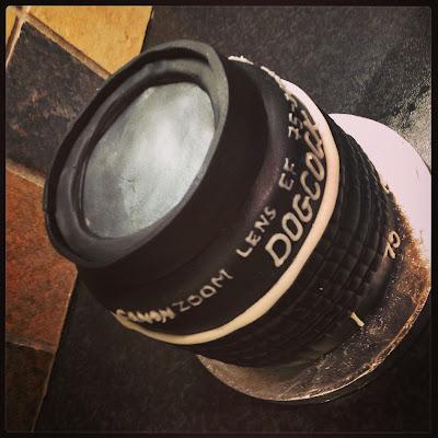 Camera Lens Cake