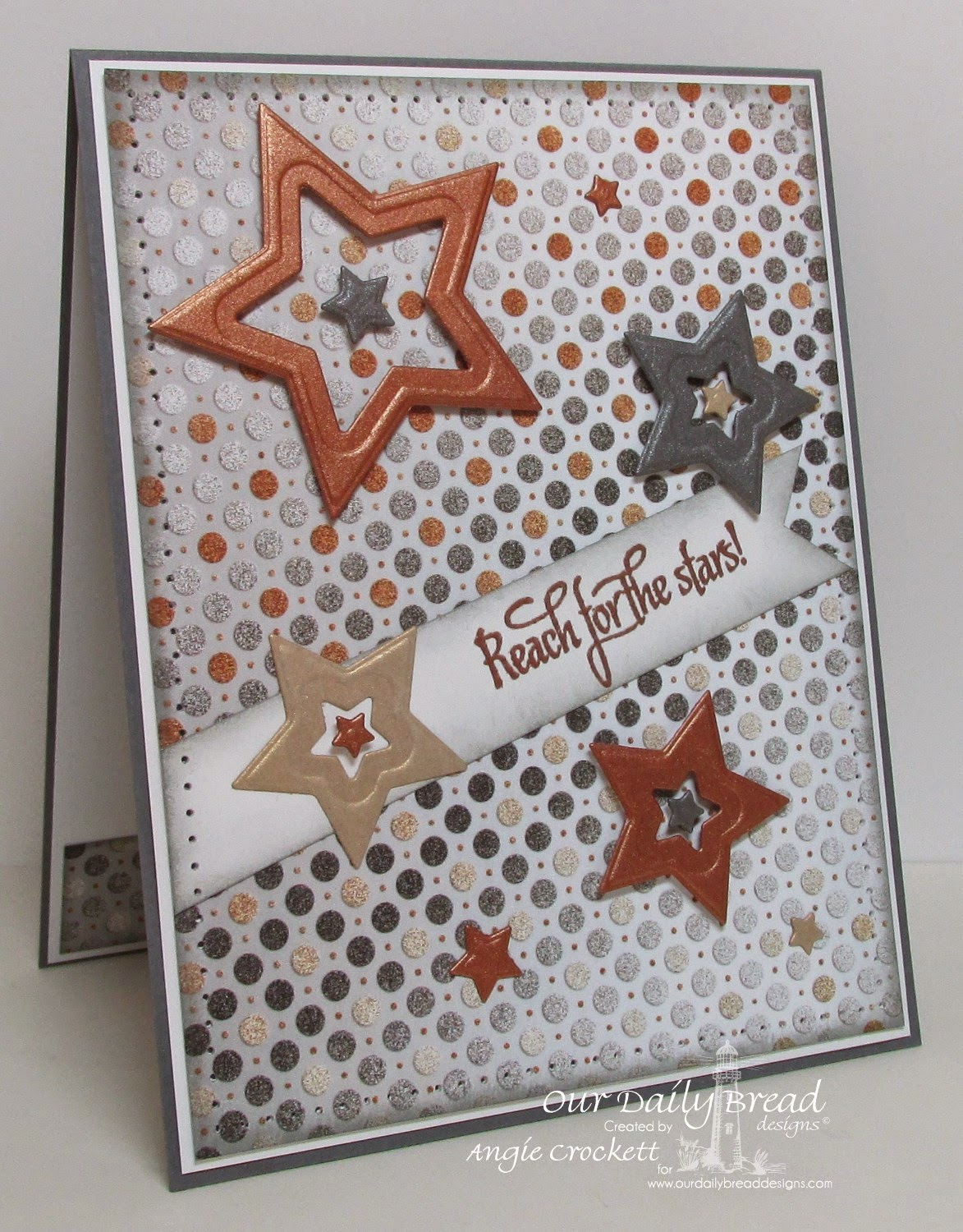 ODBD Reach for the Stars, ODBD Custom Sparkling Stars Dies, ODBD Winter Collection 2014 Designer Paper Pack, Card Designer Angie Crockett