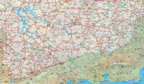 Mapa do Sudeste de Minas Gerais