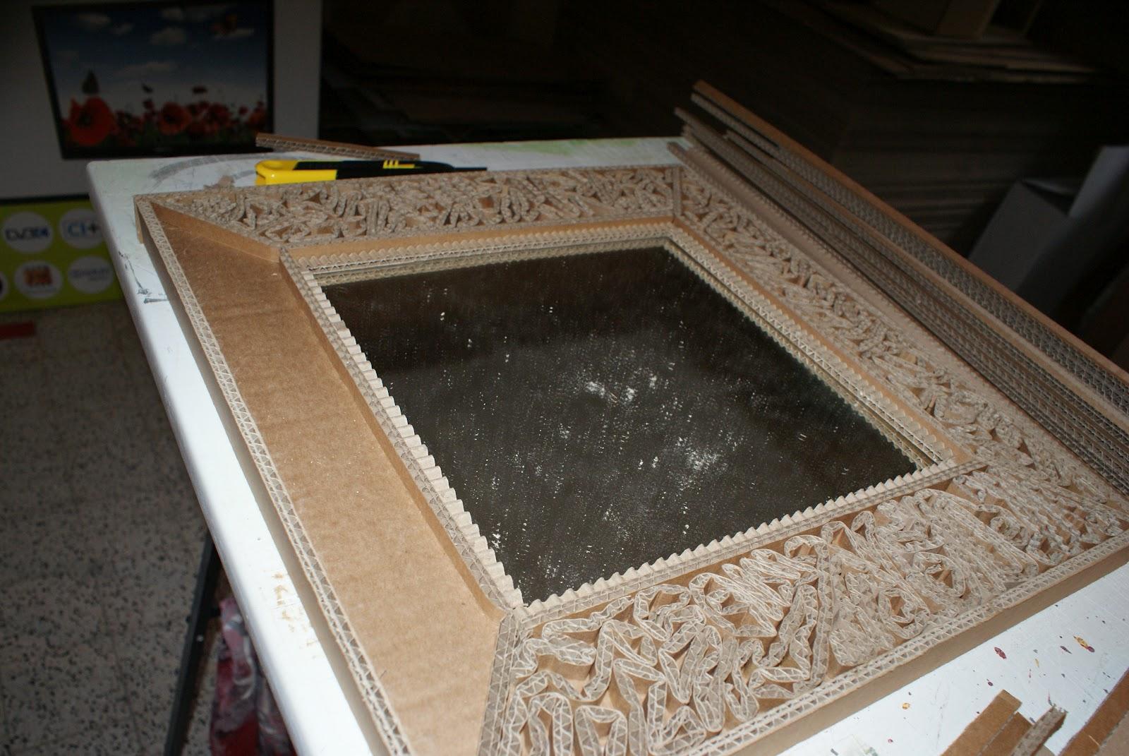 meuble et objet en carton de chez cart 39 art le cart 39 el d 39 adele tuto miroir en dentelle de carton. Black Bedroom Furniture Sets. Home Design Ideas