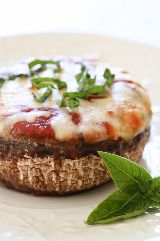 Veggie Lasagna Stuffed Portobello Mushrooms –low-carb, gluten-free and vegetarian