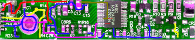 TDK TBD420NR inverter with some signal paths highlighted.