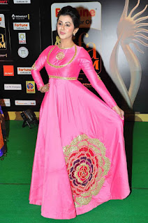 Nikki Galrani Stills in Pink Long Dress at IIFA Utsavam Awards 2016 ~ Celebs Next