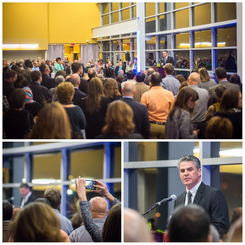Portland, Maine USA December 2015 photo by Corey Templeton. A few shots from last night's inauguration of Mayor Ethan Strimling at Ocean Gateway.
