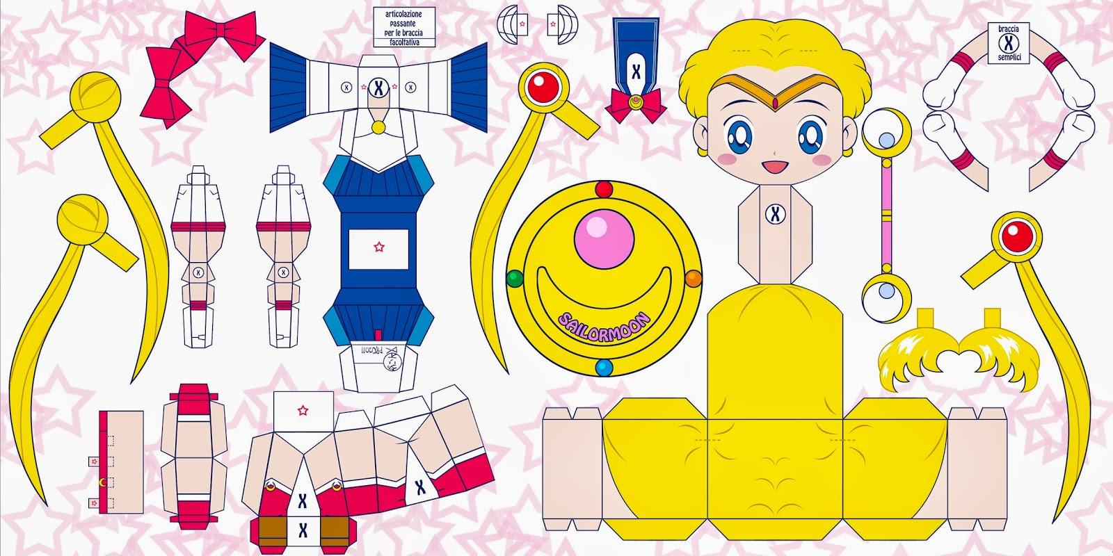 Dx Appunti Disordinati Di Viaggio Sailor Moon Papercraft