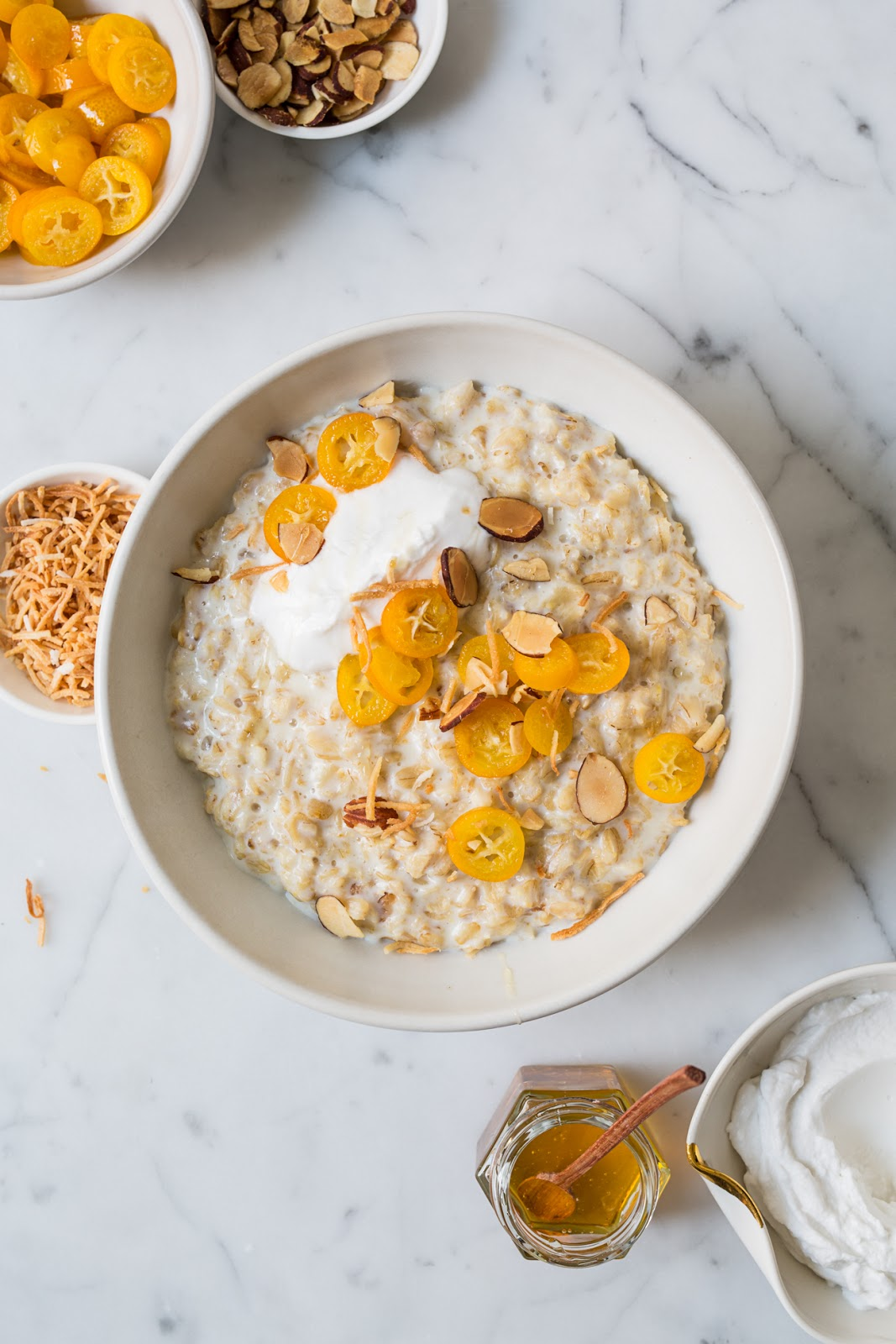 Oatmeal with Poached Kumquats / blog.jchongstudio.com