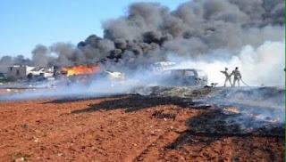 Εκτακτο: Οι Ρώσοι βομβάρδισαν 24 Τουρκικές νταλίκες με πυρομαχικά στα σύνορα Συρίας Τουρκίας !! 12 νεκροί - Βίντεο