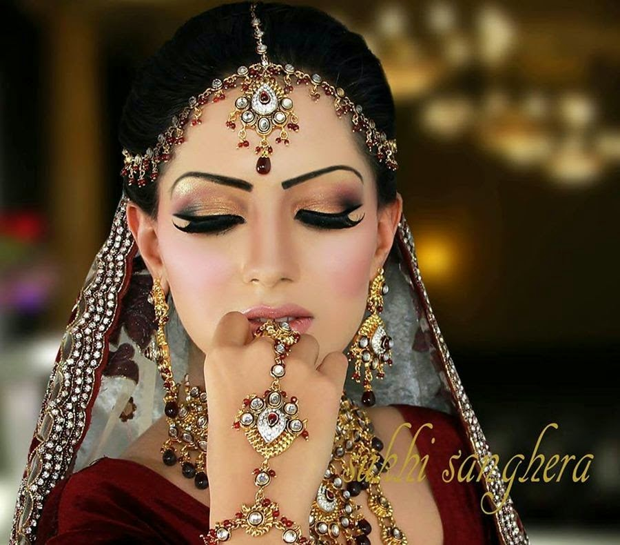 Pakistani Bridal Makeup Pictures 2015 - Latest Bridal Makeover 2015 16 | Recent Updates