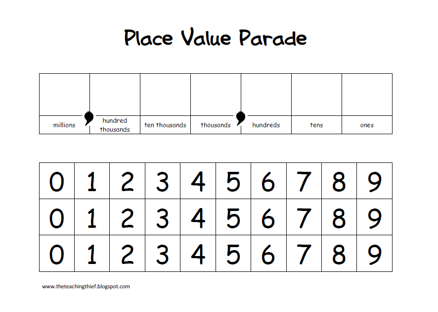 The Teaching Thief: Place Value Parade and Building Numbers