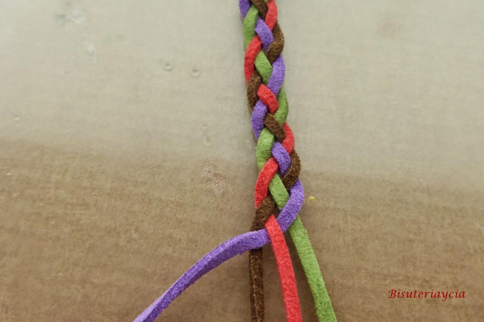 Pulseras con 4 cabos