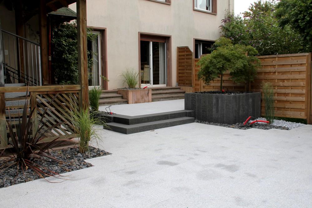 le jardin secret travaux terrasse. Black Bedroom Furniture Sets. Home Design Ideas