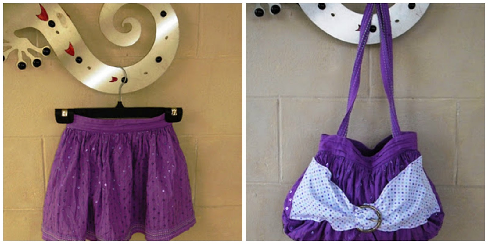 Upcycle Old Clothes Creating My Way To Success Skirt To Bag Upcycle A Tutorial