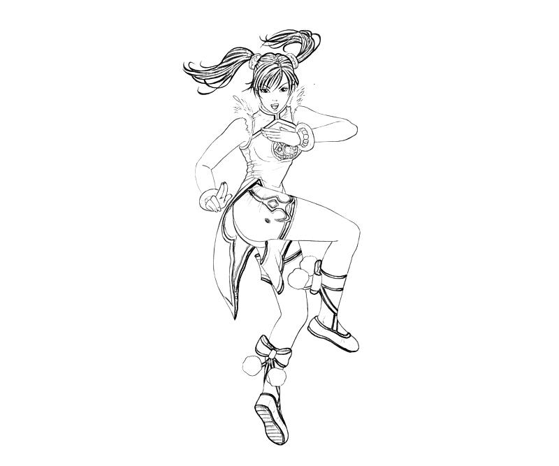 printable-tekken-ling-xiaoyu-action-coloring-pages