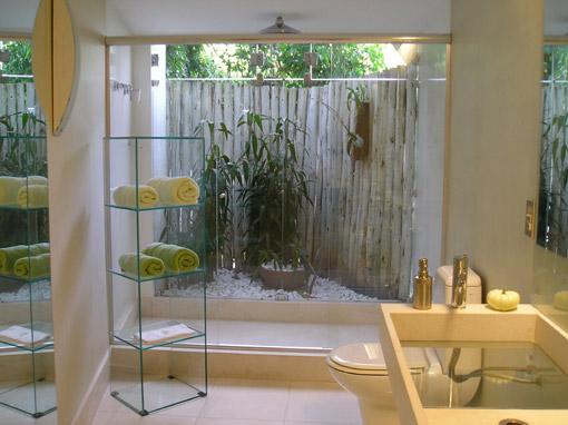 Sítio Bela Vista Banheiro Selva -> Banheiro Pequeno Com Jardim De Inverno