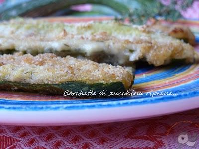 barchette di zucchina ripiene....un'idea svuota-frigo con le ultime dell'orto ^_^