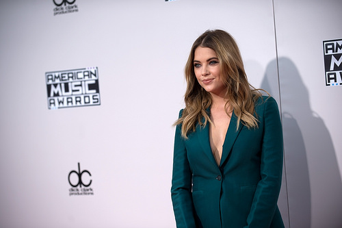 Ashley Benson on red carpet at American Music Awards 2015