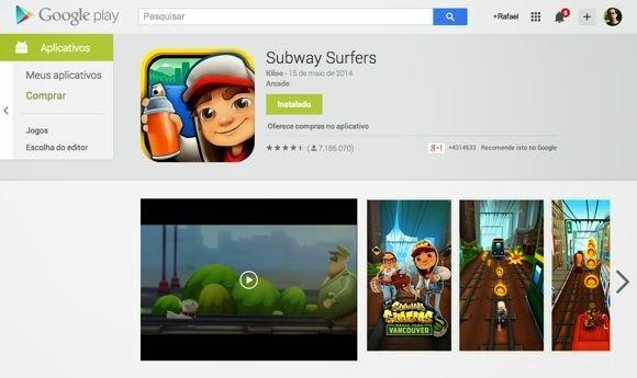 Apps (e filmes, livros e revistas) para seu smartphone Android estão disponíveis na loja Google Play
