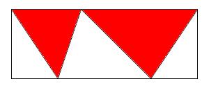 Dos triángulos en un rectángulo