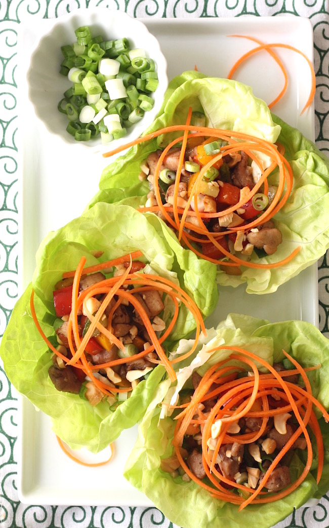 Chinese Chicken Lettuce Cups recipe by SeasonWithSpice.com