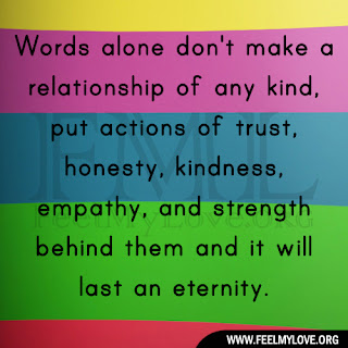 Words alone don't make a relationship