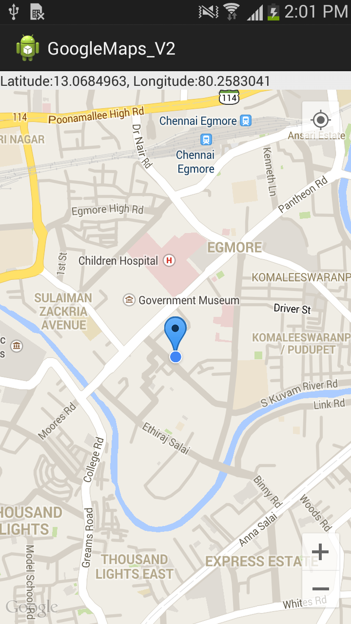 Showing Current Location In Google Maps Using Api V2