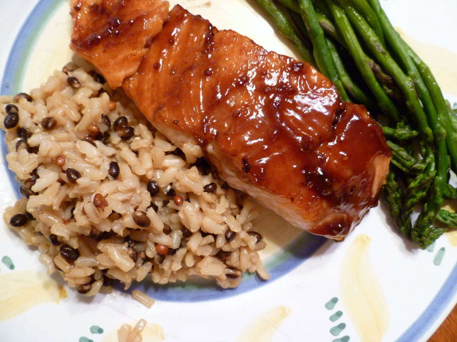 The Fanciful Fig: Pomegranate-Balsamic Glazed Salmon