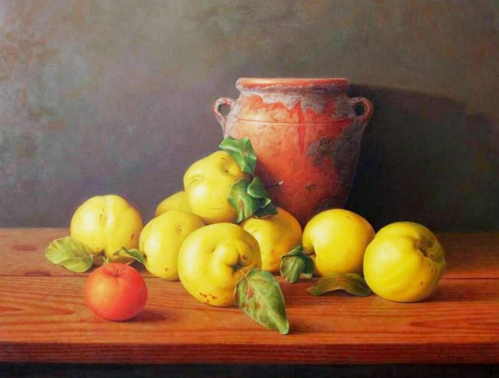 Cuadros modernos pinturas realistas de bodegones con - Fotos de bodegones de frutas ...