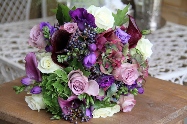 Purple Flowers For October Wedding : The flower magician a sumptuous rich purple late autumn