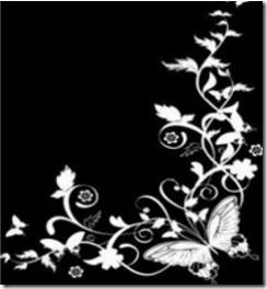 Black Corner Butterfly Background Wallpapers